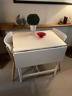 Ikea Drop Leaf Dining Table And 2 Chairs • 12.50£