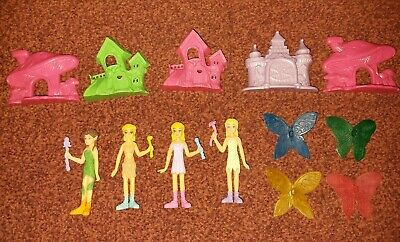 4 Fairy/Human Changing Wing Playset Action Figure With Houses Toy Set • 2.50£