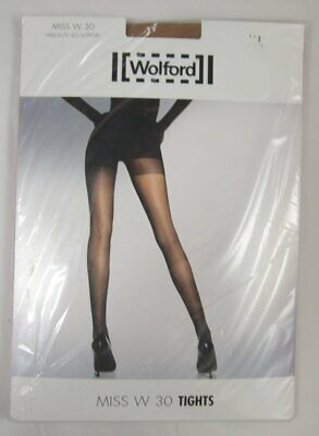 Wolford Miss W 30 Absolute Leg Support Tights XL Caramel 11218 4004 • 19.95£