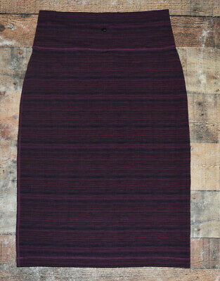 $ CDN57.08 • Buy Lululemon Tube And From Skirt Sz 10 Bordeaux Cyber Stripe Grape Pencil Skirt B34