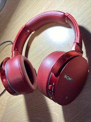 Sony MDR-XB950B1 ExtraBass Bluetooth Wireless Over-Ear Headphones Red W/Charger • 54.99£