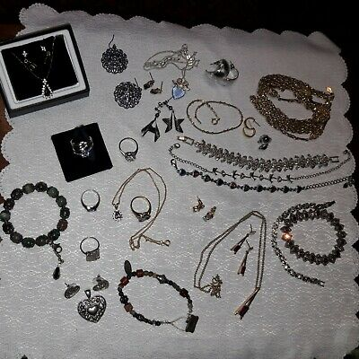 $ CDN44.40 • Buy Very Nice Vintage To Now Jewelry Lot~Rings~Necklaces~More