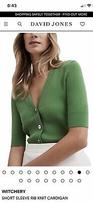 AU21.50 • Buy Witchery Rib  Short Sleeve Top Cardigan New Without Tags Size S $99.95
