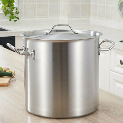 £49.95 • Buy 12-50L Stainless Steel Stock Pot Cater Cooking Stew Soup Boiling Lid Kitchenware