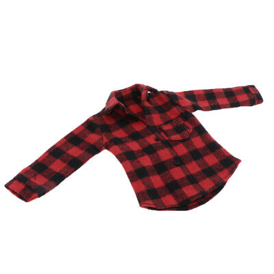 $16.34 • Buy 1: 6 Red Plaid Coat For Enterbay TC Dragon Figure Male Accessories