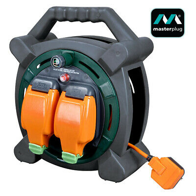 £46.99 • Buy Masterplug 20m Outdoor Mains Extension Cable Reel IP54 With Weatherproof Sockets