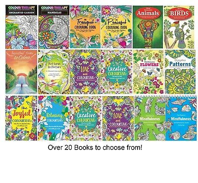 £2.75 • Buy A4 Mind Relaxing COLOURING BOOK Colour Therapy Books Kids Adult Stress Relief