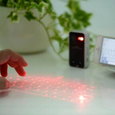 Digital Wireless Bluetooth Projector Keyboard W/ Mouse Function Fit Phone Iphone • 36.32£