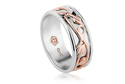 £99 • Buy NEW Official Welsh Clogau Silver & Rose Gold Tree Of Life Ring £90 OFF! SIZE P