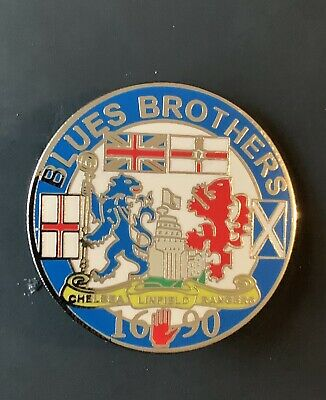 £3 • Buy Glasgow Rangers Linfield An Chelsea Blues Brothers Pin Badge