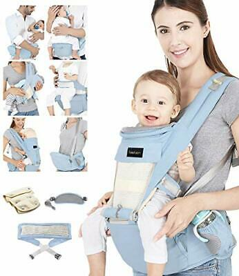 Baby Carrier, Ergonomic Hip Seat, Baby Carrier Sling With Fixing Strap (Blue) • 57.97£