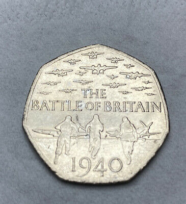 2015 Battle Of Britain 1940 Fifty Pence 50p Coin • 2.50£