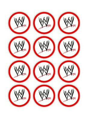 12 WWE Party Stickers • 1.50£