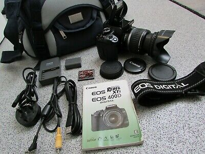 £150 • Buy Canon EOS 400D 10.1MP Digital SLR Camera With EF-S 18-55mm Lens (KM87)