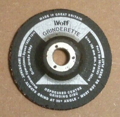 Wolf Grinderette High Quality 100mm X 16mm X 5mm Metal Grinding Discs • 6.98£