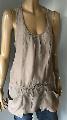 ~ River Island Cute Top With Pocket & Pull String Tie Detail * Unused *  8 / 10 • 1.99£