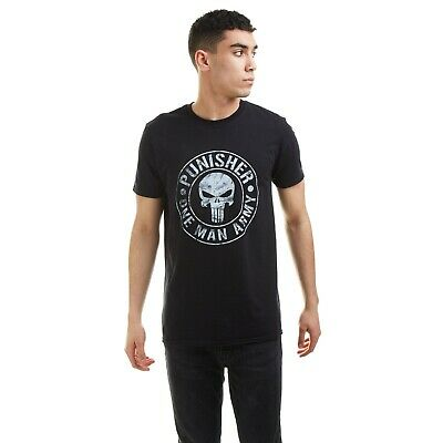£12.99 • Buy Official Marvel Mens - Punisher One Man Army - T-shirt - Black