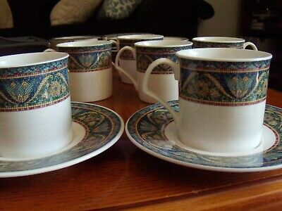 Set Of 6 Mikasa Ultra Cream Bone China Tea Cup And Saucer San Marco Style • 20.75£