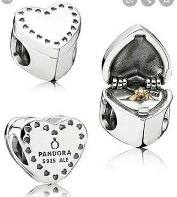 Pandora  Marry Me  Heart Shaped Charm (Ring In A Box) • 7.50£