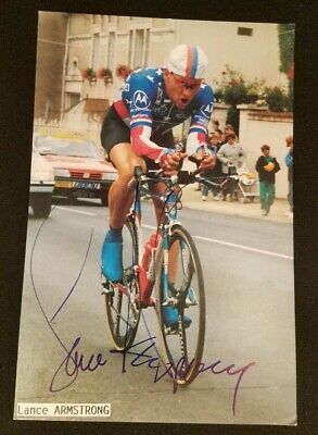 1993 Lance Armstrong Motorola Cycling Team Card - Signed • 36.18£