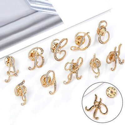 Women's Party A-Z Letters Brooch Pin Clothes Daily Wedding Dress Accessory Gift • 0.99£