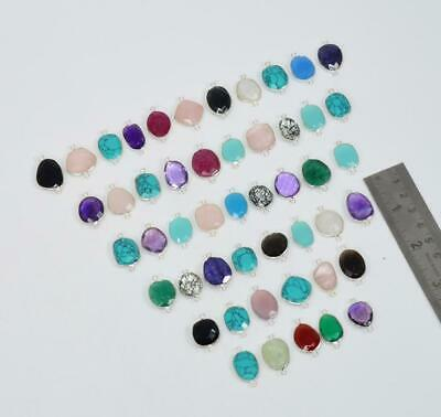 $ CDN111.79 • Buy Wholesale 49 Pc 925 Solid Sterling Silver Turquoise Mix Stone Connector Lot O T6