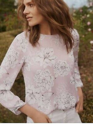 AU20 • Buy Witchery Pink Floral Long Skeeve Top Size 10