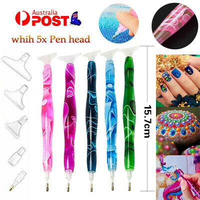 AU9.75 • Buy 5D Resin Diamond Painting Pen Resin Point Drill Pens Cross Stitch DIY Craft Art
