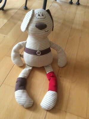 Mamas & Papas Puppy Dog D Is For Dog Baby Comforter M & P Stripey Soft Toy 14  • 3.50£