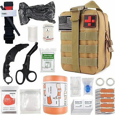 $78.48 • Buy Survival First Aid Kit Medical Emergency Military Trauma Bag Tactical IFAK Molle