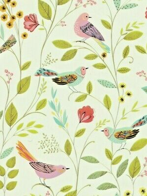 £2.85 • Buy Birds & Flowers Wrapping Paper Gift Wrap 2 Sheets 70x50cm Good Quality Birthday