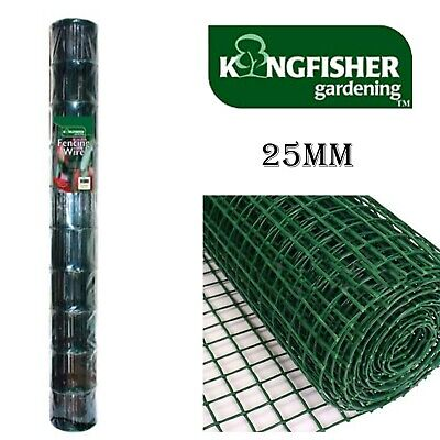 25mm Plastic Coated Mesh Wire Durable Garden Fencing In 4 Metre Roll - WNETTW3 • 15.75£