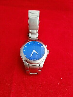 Fossil BigTic Men's Watch With Blue Dial-work Well New Battery • 3.20£