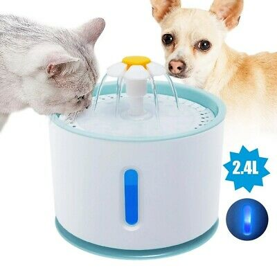 £14.98 • Buy 2.4L Automatic Electric Pet Water Fountain Drinking Bowl Feeder For Dog Cat UK