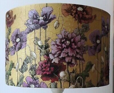 £45.99 • Buy Gold Floral Lampshade Lamp/Ceiling 6  8 10 12 14 16 18 Mauve/Gold Vintage