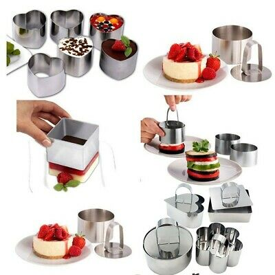 1 PC Mousse Cutter Stainless Steel Cake Mold For Sandwiches Thick Cookie/pastry • 4.92£