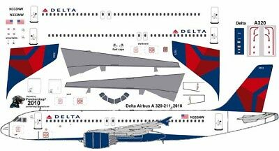 Delta Airbus A-320 Pointerdog7 Decals For Revell 1/144 Kit • 7.15£