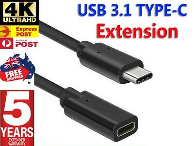 AU10.95 • Buy 1M USB 3.1 Type-C Male To Female Extension Cable USB-C Thunderbolt 3 Extender AU