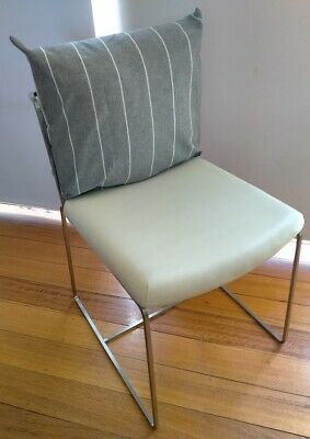 AU415 • Buy 6 X Camerich Leather Dining Chairs