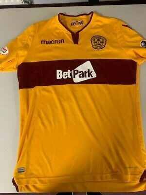 Connor Sammon Motherwell FC Signed Match Worn 2018-19 Large Home Shirt • 56£