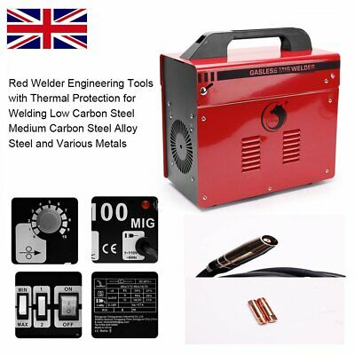 Portable Gasless MIG Welder 100 Amp Auto Flux Wire Feed Welding Machine 240V Kit • 109.99£