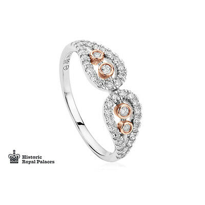 £900 • Buy  New Clogau 18ct White & Rose Gold Royal Crown Diamond Ring £970 OFF SIZE P RARE