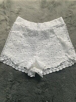 Ladies White Floral Shorts Primark Size 10 NEW WITHOUT TAGS • 3.49£