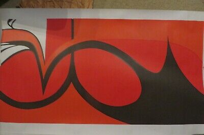Mid Century 1972 Created Limited Edition Abstract Art Screen Print By Hazel Ward • 30£