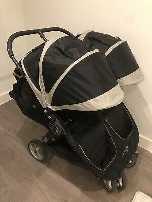 Baby Jogger City Mini Double Stroller Black And Grey • 95£
