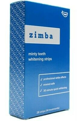 AU38.29 • Buy ZIMBA Teeth Whitening Strips - Mint - Oral 14 Treatments -Box Sealed 28 Strips