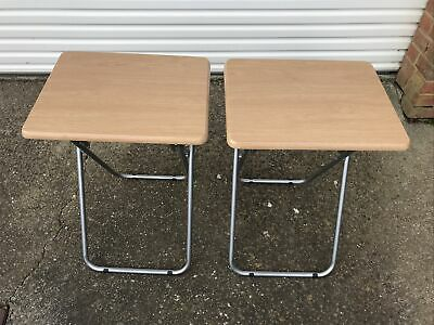 2 X Folding Tv Tables With Metal Legs  • 15£
