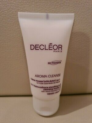 Decleor Aroma Cleanse 3in1 Hydra-Radiance Smoothing & Cleansing Mousse 50ml NEW  • 15£