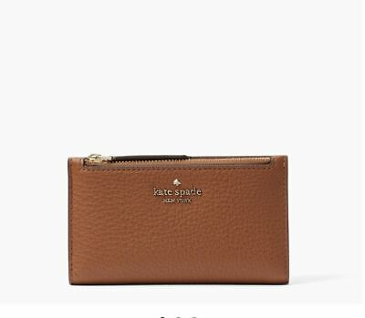 $ CDN71.86 • Buy Kate Spade Jackson Small Slim Bifold Wallet Warm Gingerbread