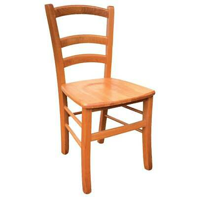 Chair Wood Venice With Sitting Solid Wood Cherry Tree • 73.36£